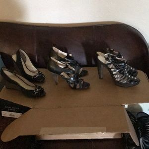 I'm selling three pairs of Coach heels